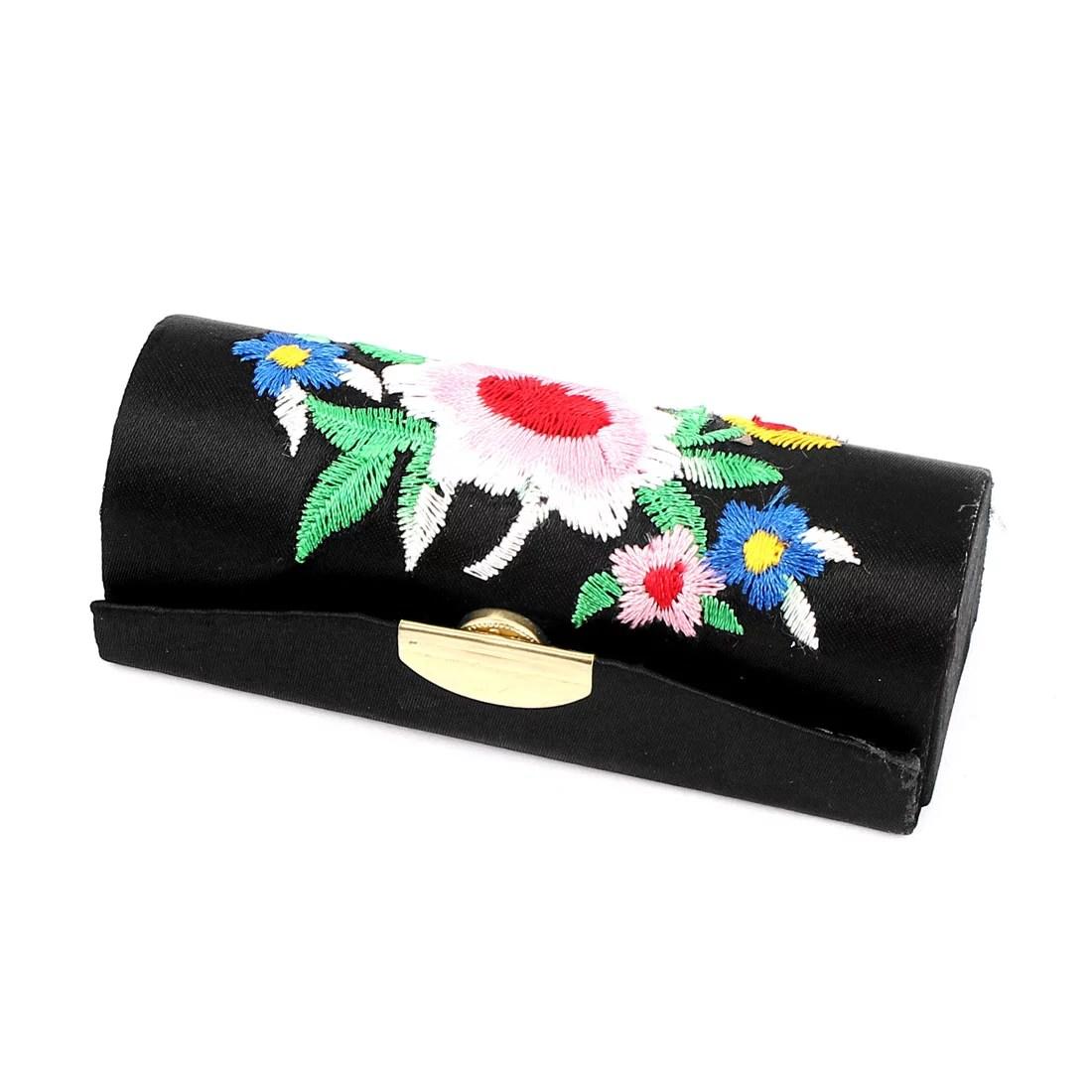 Lady Flower Embroidery Press Stud Lipstick Lip Balm Stick