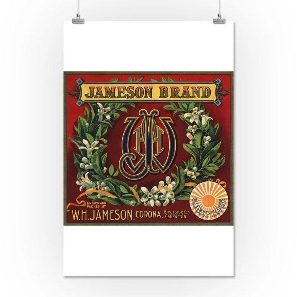 Jameson Brand - Corona California Citrus Crate Label