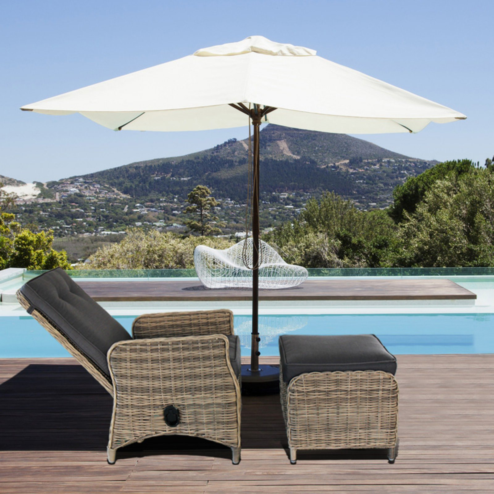 outdoor chaise lounge chair with ottoman wheelchair for rent magari black walmart com