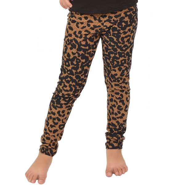 Girl' Print Leggings - X Small 4 Brown Cheetah