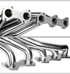 for 1999 2004 ford f250 f350 super duty 6 8l v10 stainless steel mid length exhaust header manifold w y pipe walmart com [ 1200 x 1200 Pixel ]