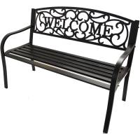 Outdoor Bench Iron Patio Bench Outdoor Furniture Welcome