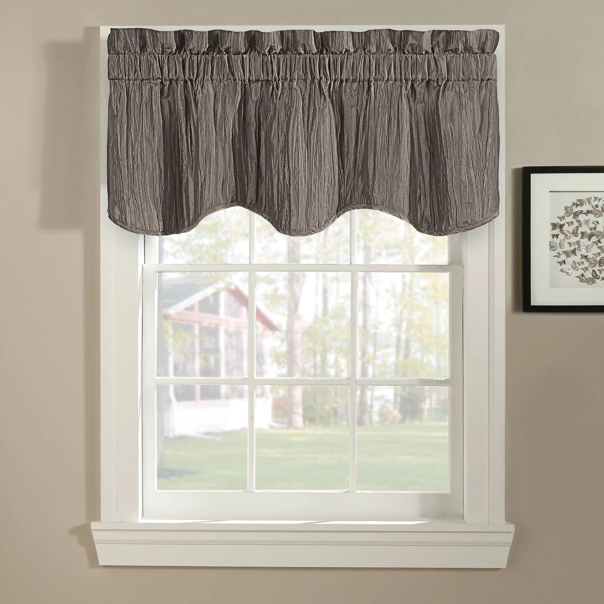 kitchen window valance affordable islands leah yellow grey walmart com