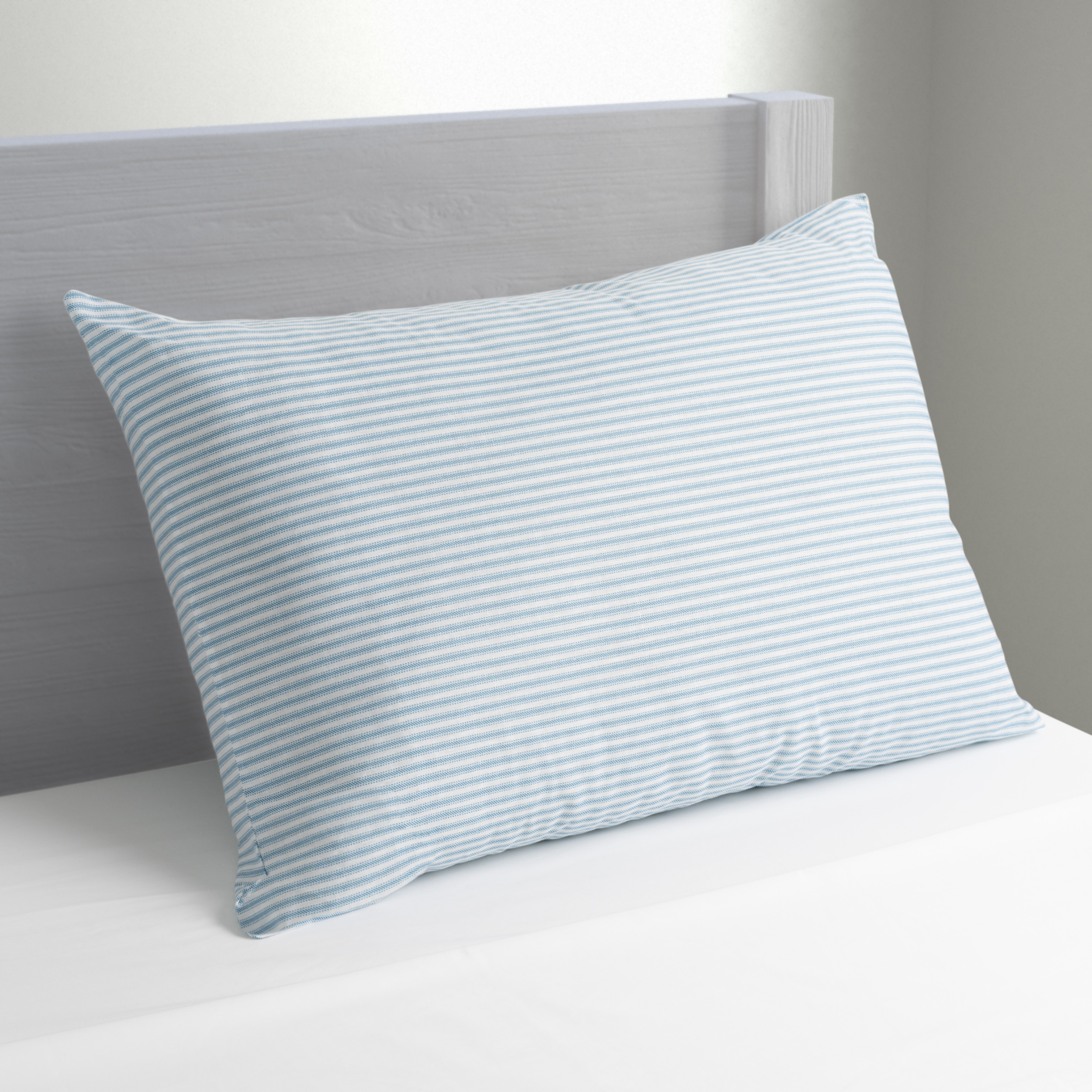 mainstays huge pillow 20 x 28 in blue and white stripe