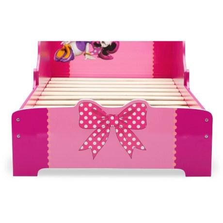Girls Toddler Bed Disney Minnie Mouse Wood Frame Modern Bedroom