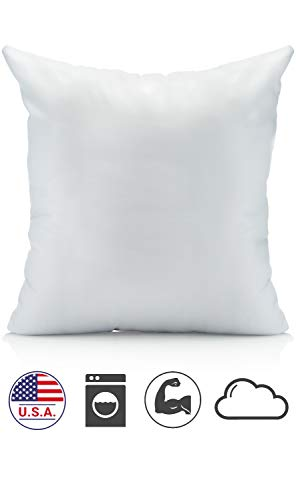 oh susannah 18 x 18 pillow inserts premium woven fabric usa made soft hypoallergenic and washable 18x18 inch square couch pillow