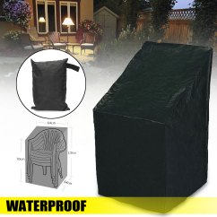 High Back Chair Patio Furniture 3 In 1 Potty Waterproof Covers Protection Cover Outdoor Garden 25