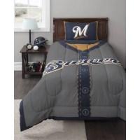 MLB Milwaukee Brewers Twin Bedding Comforter Set - Walmart.com