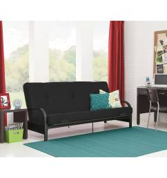 mainstays black metal arm futon with full size mattress multiple colors walmart com [ 2000 x 2000 Pixel ]