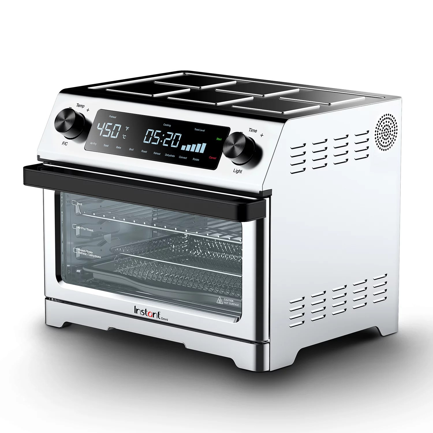 instant omni 9 in 1 toaster oven with air fry dehydrate toast roast bake broil and reheat features