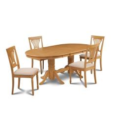 Rubberwood Butterfly Table With 4 Chairs Tall Drafting Office M Amp D Furniture Some5 Oak C 5 Piece Dining Room Set A Leaf And In Finish Walmart Com
