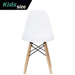 Eiffel Chair Wood Legs Big Man Lazy Boy 2xhome White Kids Size Plastic Side Seat Natural Wooden Childrens Room Chairs No Arm Arms Armless Molded Dowel