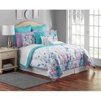 Mainstays Multi-Color Floral 12-Piece Bedding Comforter ...