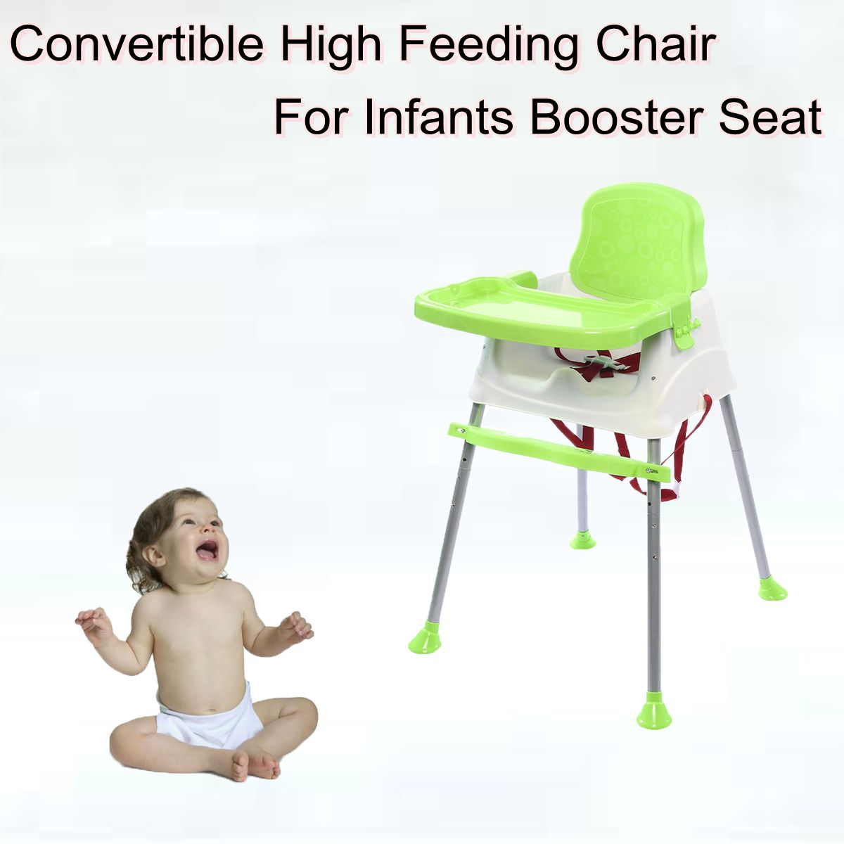 baby chairs for eating ebay high chair convertible feeding infants booster seat green walmart com