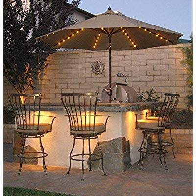 patio umbrella lights remote control and timer 8 ribs 104 led string decor lights battery operated for restaurant coffee shop outdoor garden