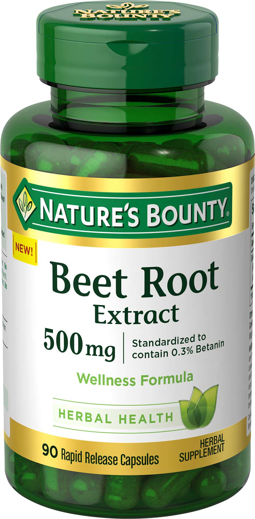 Nature's Bounty® Beet Root Extract 500 mg 90 Capsules ...
