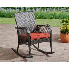 Outdoor Rocking Chairs Swivel Chair Harvey Norman Mainstays Cambridge Park Wicker Walmart Com