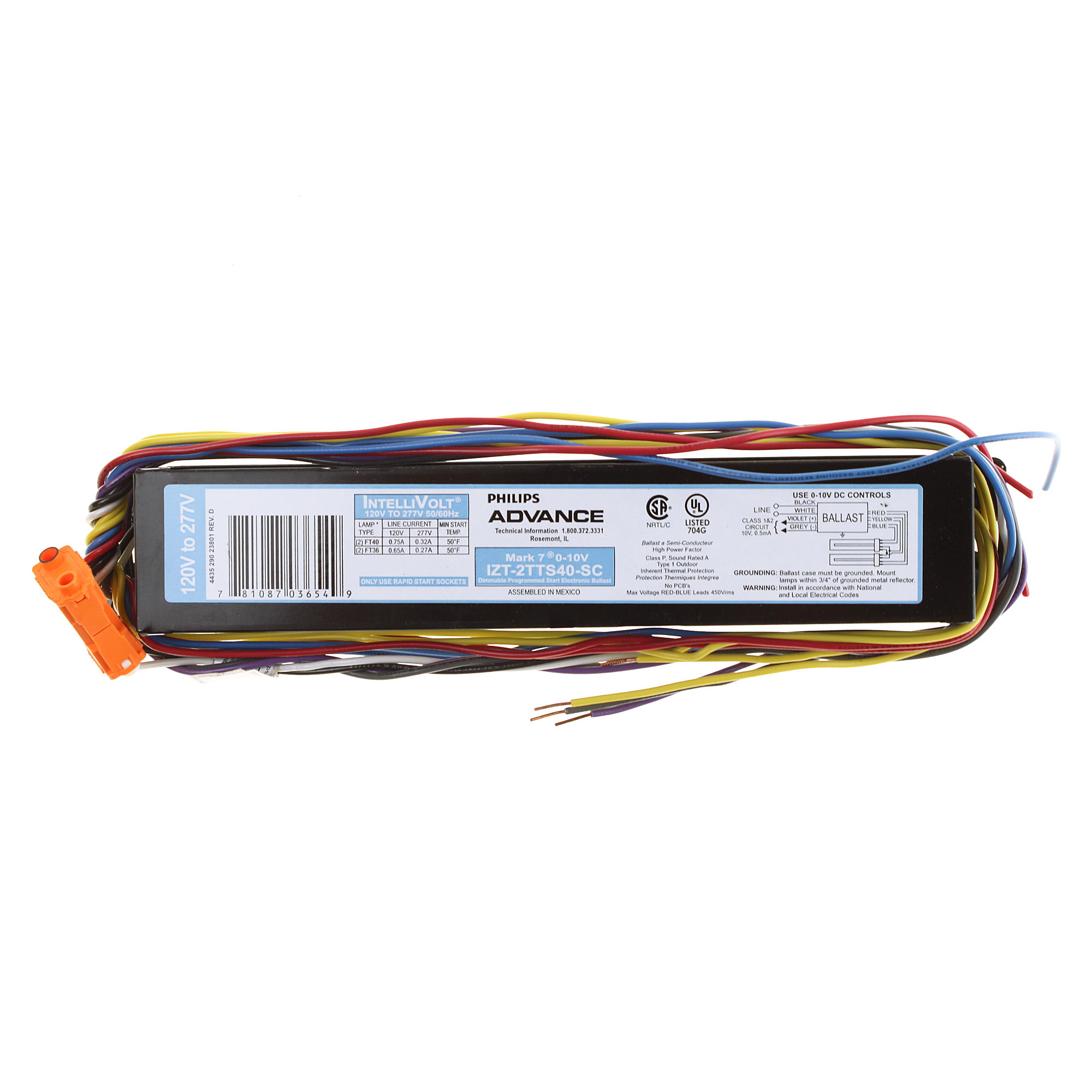 Izt2s32sc Advance Mark 7 Electronic Dimming Fluorescent Ballasts