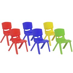 Kids Stackable Chairs How To Make A Timeout Chair Best Choice Products Multicolor Set Of 6 Plastic Stacking School 10 Height Colorful Seat Walmart Com