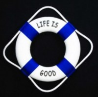 Life is Good Lifesaver Nautical Buoy Coastal Decorative ...