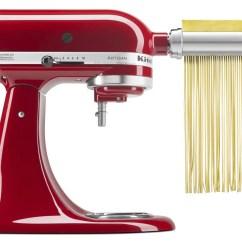 Kitchen Aid Pasta Gold Kitchenaid 3 Piece Roller Cutter Mixer Attachment Set Ksmpra Walmart Com