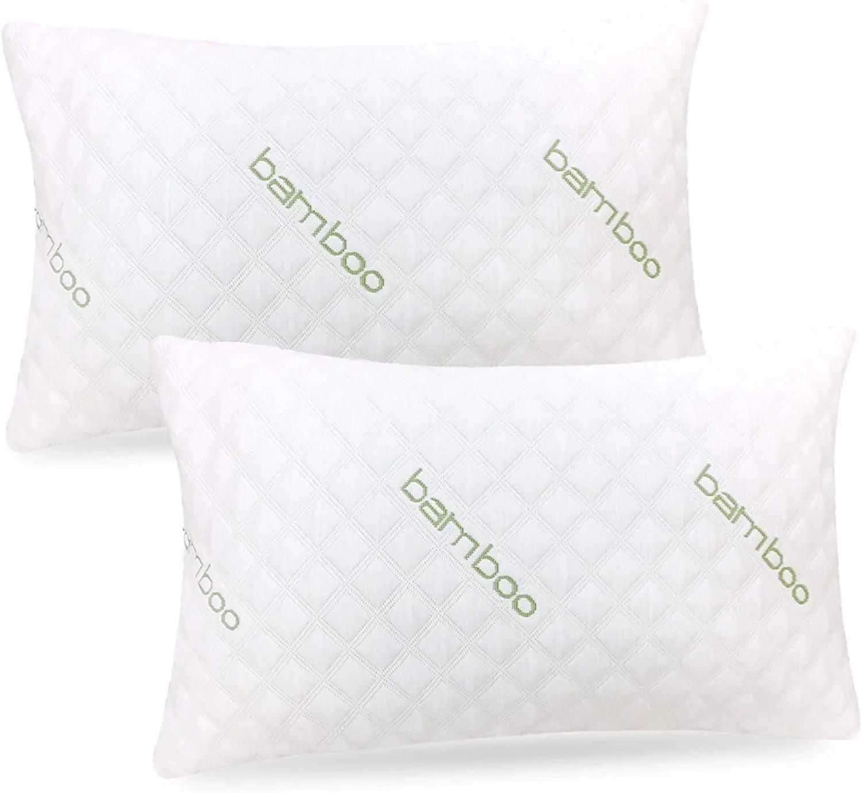 ik bamboo pillow king size premium memory foam pillow with washable pillow case adjustable king walmart com