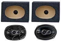 "2) Kicker 41DSC6934 6x9"" 360W Car Speakers + 2) QTW6X9 ..."