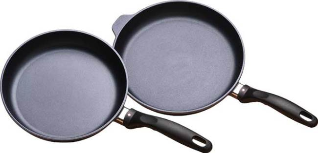 "Swiss Diamond 2 Piece 9.5"" & 11"" Frypan Set 602"