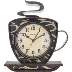 Kitchen Clocks Tiled Floors Westclox Coffee Mug Wall Clock Walmart Com