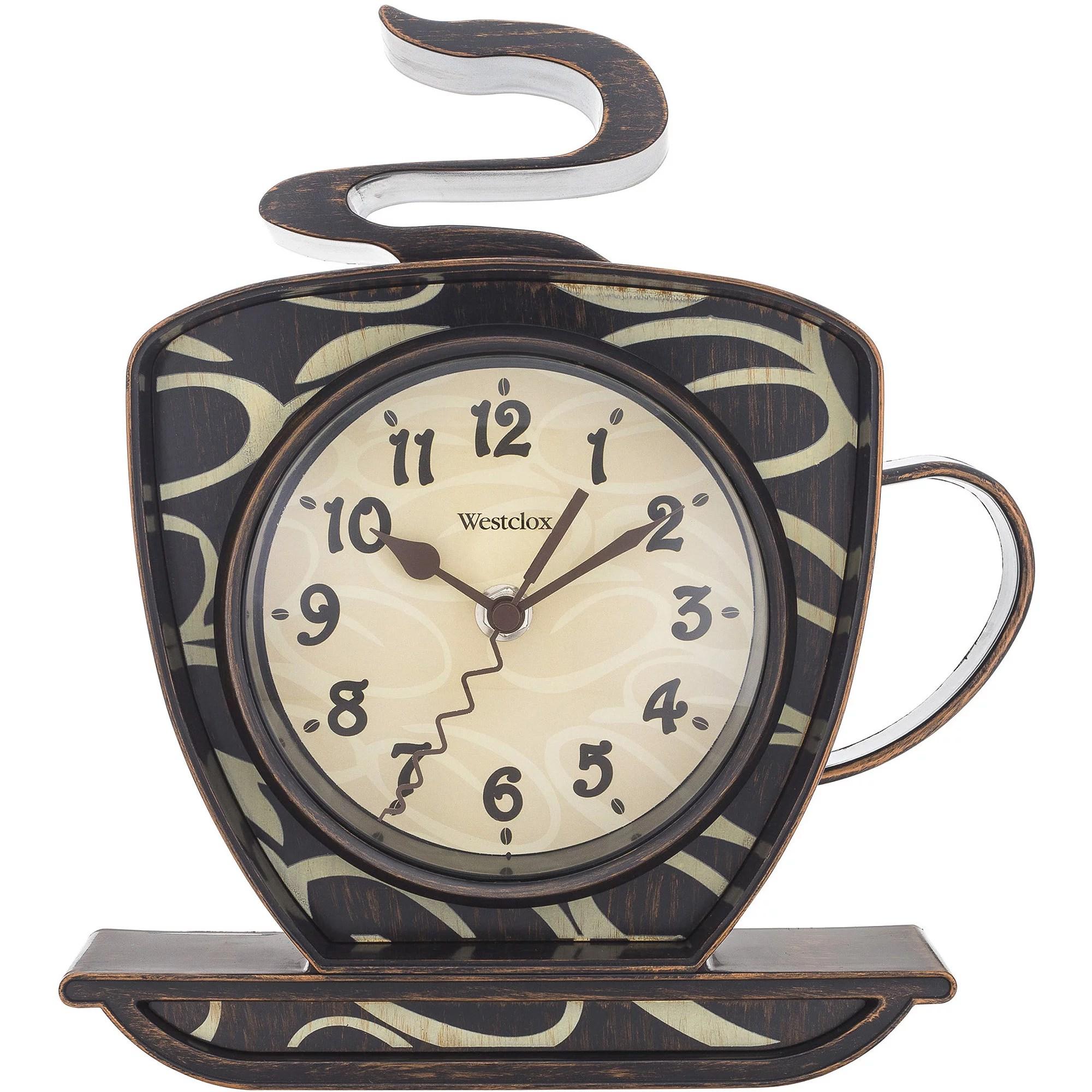 Westclox 3d Coffee Mug Wall Clock Walmart Com Walmart Com