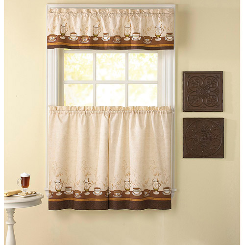 kitchen drapes corner cabinets curtains walmart com product image chf you cafe au lait