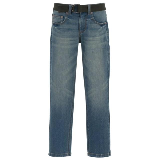 Faded Glory Boys Belted Fashion Denim Jean
