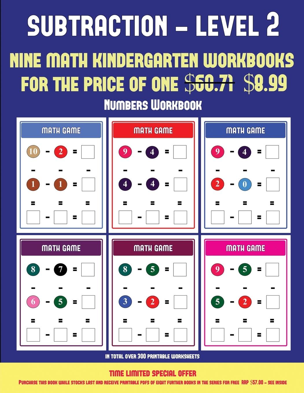 Numbers Workbook Kindergarten Subtraction Taking Away
