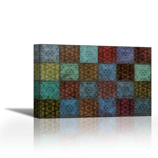 Mosaic Tiles Ii - Contemporary Fine Art Giclee Canvas