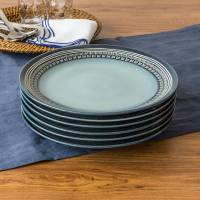 Better Homes and Gardens Teal Medallion Dinner Plates