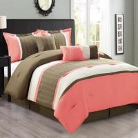 Fashion Street Seventeen 7-piece Comforter Set Queen Plum ...