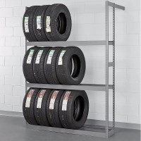 "Tennsco Garage Wall Mount Storage Tire Rack 60"" W x 84"" H ..."