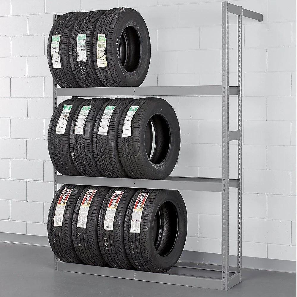 tennsco garage wall mount storage tire rack 60 w x 84 h car truck tire shelf