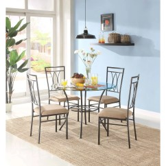 4 Chair Dining Set Steel Price In Kerala Modern Glass Round Table And Chairs Mainstays 5 Piece Metal