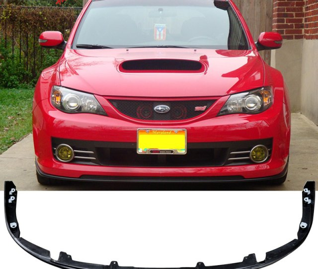 Fits 08 10 Subaru Impreza Wrx Sti Front Bumper Lip Spoiler Polypropylene