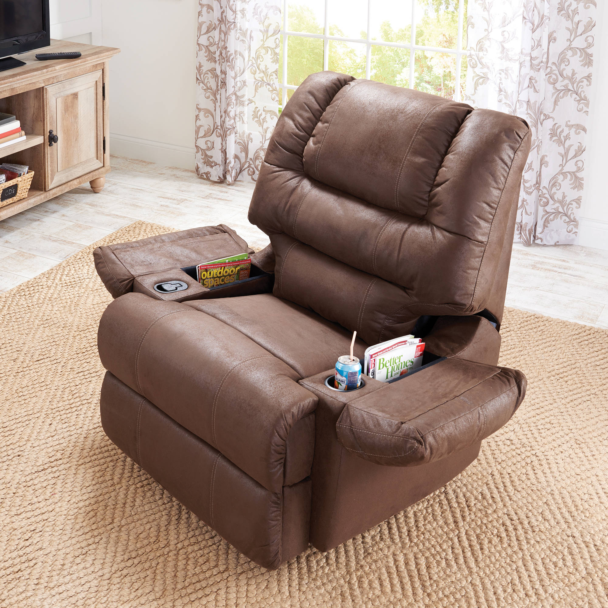 Double Wide Recliner Chair Better Homes And Gardens Deluxe Recliner
