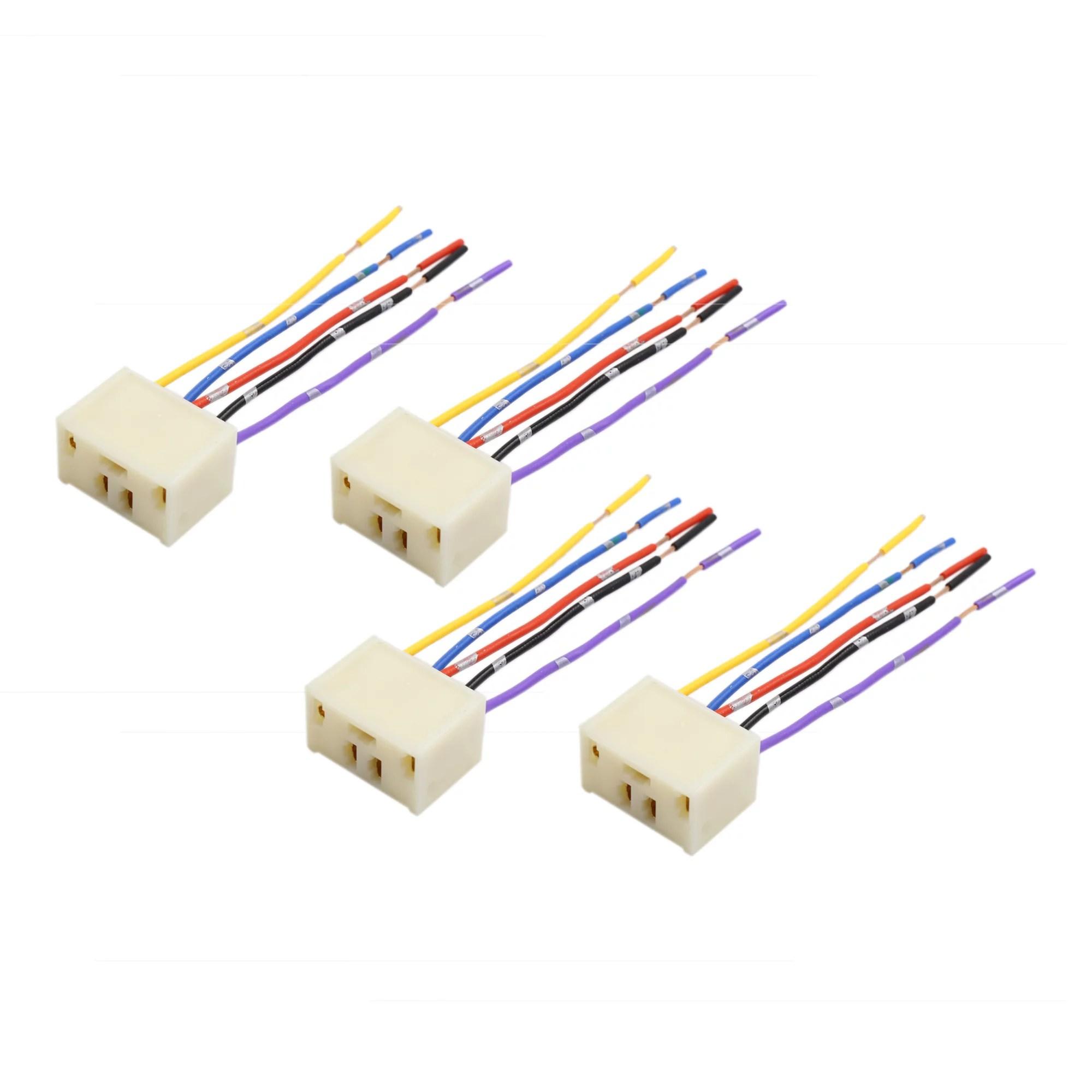 4pcs dc 12v 5 pin car power window switch socket wiring harness ford 8n 12 volt wiring diagram 12v plug wiring harness adapter [ 2000 x 2000 Pixel ]