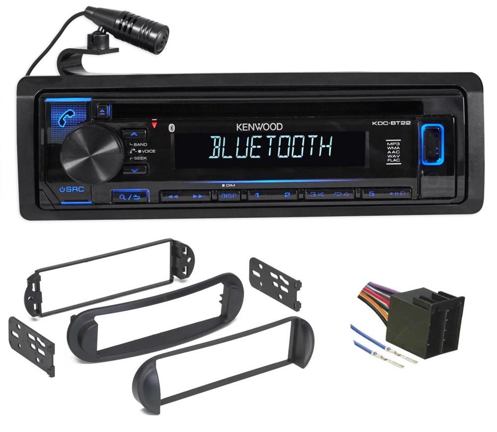 medium resolution of kenwood cd radio receiver w bluetooth iphone for 99 10 volkswagen vw beetle walmart com