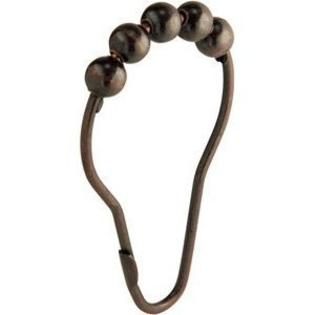 oil rubbed bronze roller shower curtain rings set of 12