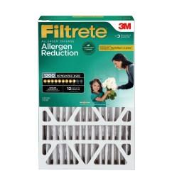 filtrete 16x25x4 allergen reduction deep pleat hvac air and furnace filter 1200 mpr 1 filter walmart com [ 3000 x 3000 Pixel ]