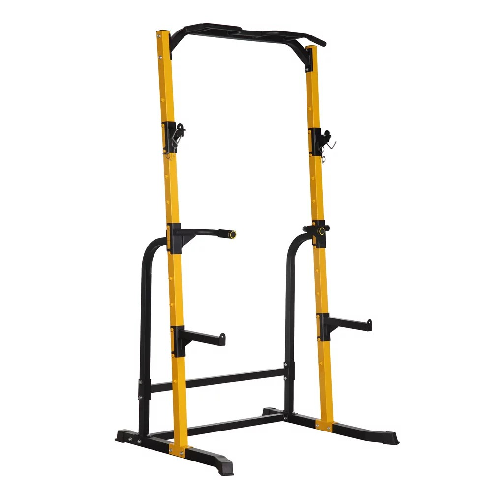 ainfox power rack squat stand with j hooks fitness multi function power tower dip station squat rack 800lbs weight capacity