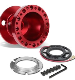 modifystreet red aluminum 6 hole bolt aftermarket racing steering wheel hub adapter kit for 04 11 mazda rx8 walmart com [ 1200 x 1200 Pixel ]