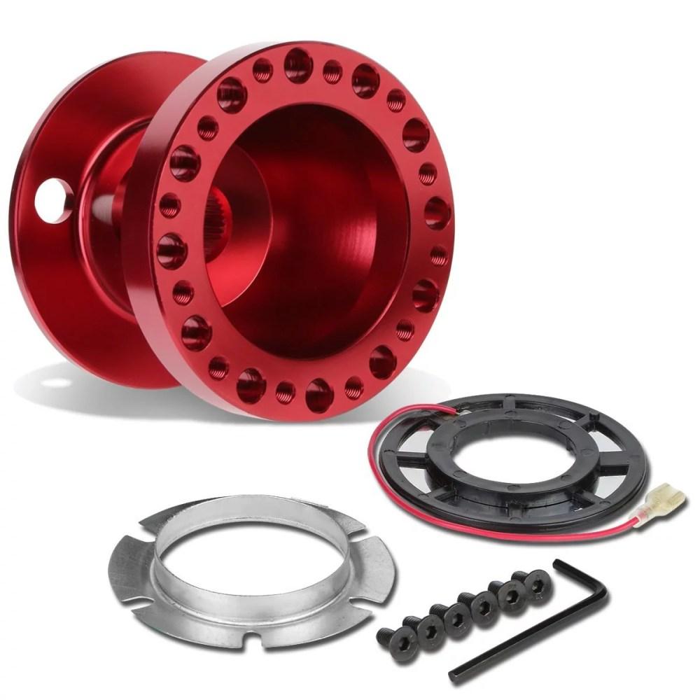 medium resolution of modifystreet red aluminum 6 hole bolt aftermarket racing steering wheel hub adapter kit for 04 11 mazda rx8 walmart com