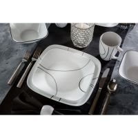 Corelle Squares Simple Lines 16-Piece Dinnerware Set ...