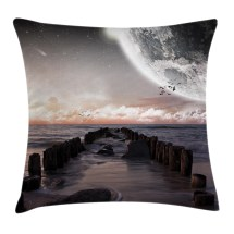 Space Throw Pillow Cushion Cover Moon Fantasy Planet